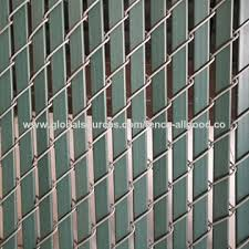 Chinagreen Boundary Chain Link Fence With Slats Green Chainlink Privacy Boundary Fence On Global Sources