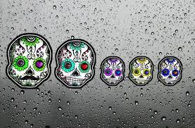 Sugar Skull Family Car Window Decal Sticker Set Vinyl Day Of Etsy