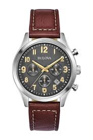 leather chronograph watch 41mm