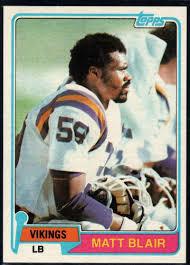 Football NFL 1981 Topps #346 Matt Blair ...