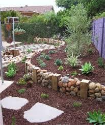 raised rock wall outdoor gardens