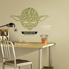 Star Wars Typographic Yoda Giant Wall Decal Us Wall Decor