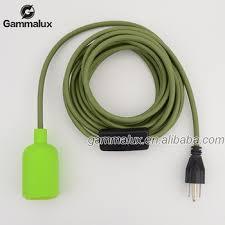e26 e27 pendant lamp cord set silicone