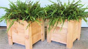 cedar garden planter box modern diy