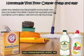 homemade vinyl floor cleaner and easy