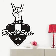 Music Rock Star Wall Sticker Decor Kids Room Home Decoration Posters Vinyl Music Rock Hand Car Decal Wall Stickers Aliexpress