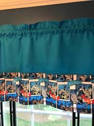 Marvel Comic Kids Valances Kids Room Kids Curtains Etsy