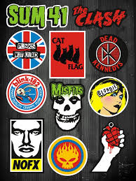 11 Pcs Cbgb Punk Band Waterproof Vinyl Stickers For Laptop Skateboard Luggage Punk Poster Band Wallpapers Rock Poster Art