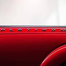 Amazon Com F 150 F 250 F 350 Super Duty Platinum Bedside Chrome Emblem Decal 2pc Set Automotive