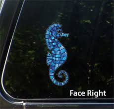 The Decal Store Com By Yadda Yadda Design Co Clr Car Seahorse Stained Glass Style Vinyl Decal For Cars Truc