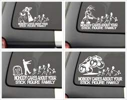 Nobody Cares About Your Stick Figure Family Car Decals Stick Figure Family Stick Figures Family Car Decals