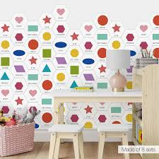 Children Kids Room Letters Wall Floor Sticker Tile Stencil Diy Waterproof Pvc Backsplash Tile Decal Reusable Stencils Home Decor Wall Stickers Aliexpress