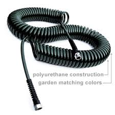 coiled stretchable garden hoses