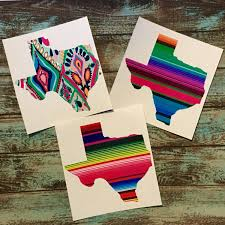 Texas Decal Texas Pattern Vinyl Decal Yeti Decal Sticker Car Decal Lily Serape Mexican Blanket Gift Patterned Vinyl Yeti Decals Mirror Decal