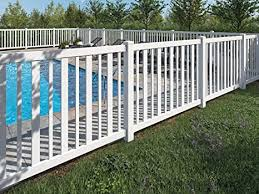 Wambam No Dig Bl19103 Sturbridge Vinyl Fence 4 Tall By 6 Wide White Amazon In Garden Outdoors