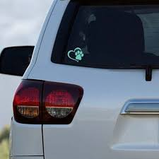Paw Decal Heart And Paw Decal Car Window Decal Sticker Window Decal Car Decal Studiowv