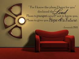 For I Know The Plans Jeremiah 29 11 Vinyl Wall Quote Decal Bible Word Gift Idea J250 Walmart Com Walmart Com