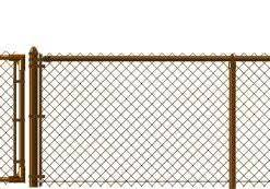 Brown Chain Link Fence Vinyl Coated Ohio Fence Company