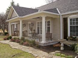 front porch on a ranch style house