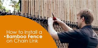 How To Install Bamboo Fencing On Chainlink