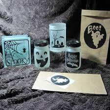 Assorted Halloween Diy Luminaries Decal Glass Block Sticker