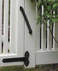 Self Closing Spring From Walpole Outdoors Wooden Window Shutters Outdoor Gate Wood Gate