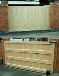 diy sliding wood fence gate