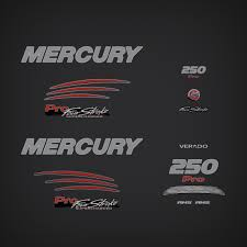 2014 Mercury 250 Hp Verado Pro Fourstroke Decal Set 8m0103041