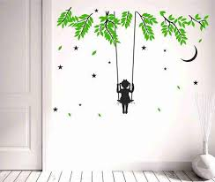 Decor Kafe Little Kid Girl Sway On Hanging From A Tree Wall Stickers At Rs 99 Piece Pvc Wall Sticker Id 19586738188