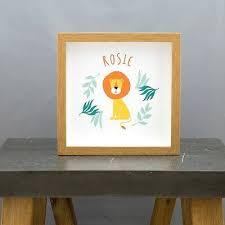 name square nursery framed print