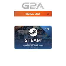 20 steam card 20 usd prepaid card