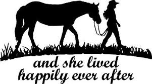 5 Inch She Lived Happily Ever After Horse Decal Window Sticker Car Girl Cowgirl Ebay