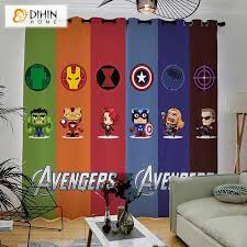3d Printed Blackout Curtain Customized Window Curtains Window Drapes Dihinhome Home Textile