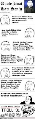 quotes hari senin for fun only