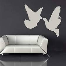 Amazon Com N Sunforest Pair Of Doves Wall Sticker Birds Feathers Wall Decal Bedroom Nursery Home Decor Home Kitchen