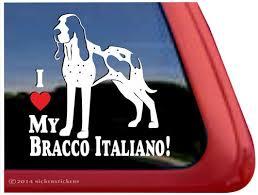 I Love My Bracco Italiano Dog Decals Stickers Nickerstickers