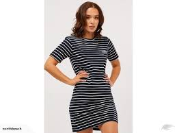rpm tee dress navy cream stripe size 8