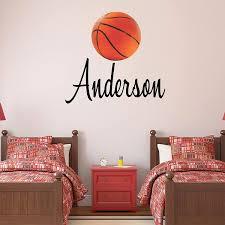 Amazon Com Custom Name Basketball Wall Decal Boys Girls Personalized Name Basketball Sports Wall Sticker Custom Name Sign Custom Name Stencil Monogram Boys Girls Room Wall Decor Handmade