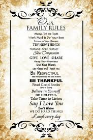 Family Rules Gift Wall Art Decor Poster Template Postermywall