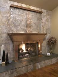 waterfall with fireplace tabletop