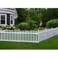 Madison No Dig Vinyl Fence Kit 30in X 56in 2 Pack Walmart Com 1000 In 2020 Farmhouse Landscaping Backyard Fences Fence Design