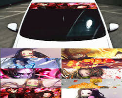 Demon Slayer Kimetsu No Yaiba Car Windshield Front Window Vinyl Decal Sticker Ebay