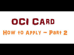 oci card how to apply for newborn in