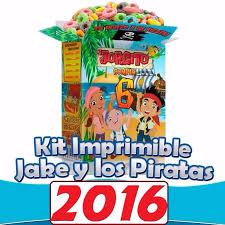 Kit Jake Y Los Piratas Cumpleanos Listo Para Imprimir 45 00 En