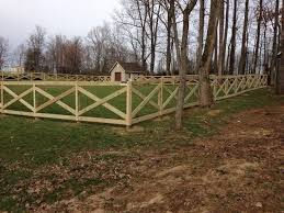 The Fence Pictured Above Is A 5 39 Cross Buck Ranch Design With 4x4 Posts 5 X 1 X2f 4 Quot Desk Boards And Wood Fence Design Fence Design Front Yard Fence