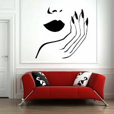 Woman Face Wall Decal Nail Beauty Salon Lips Hand Vinyl Wall Sticker Home Decoration Living Room Bedroom Artistic Murals Y762 Wall Stickers Aliexpress