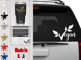 Vegan Decal Choose Your Size Car Decal Laptop Decal Mug Decal Tumbler Decal Cup Decal Phone Decal By Veiledtrove O Phone Decals Tumbler Decal Cup Decal