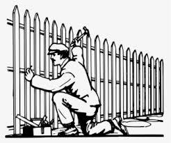 Fencing Drawing Cartoon Building A Fence Clipart Hd Png Download Transparent Png Image Pngitem