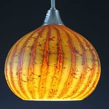 blown glass pendant light batik round