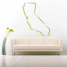 California State Outline Vinyl Car Window Decal Sticker